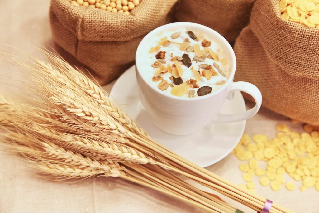 Cereal food grain healthy fibres