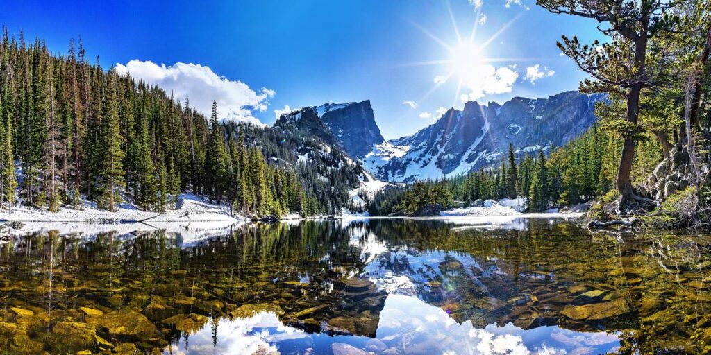 Landscape scenic water reflection
