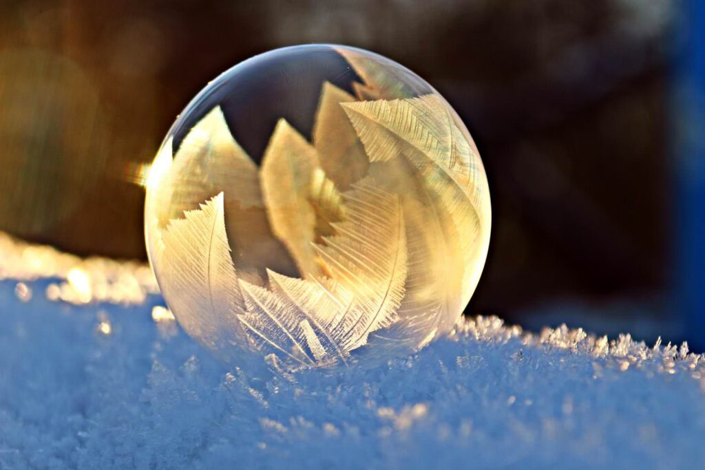 Soap bubble frost snow bubble