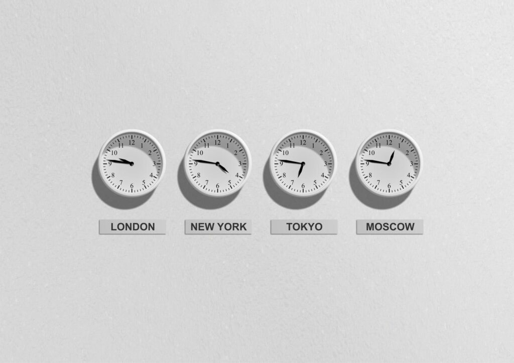 Time on the business clocks